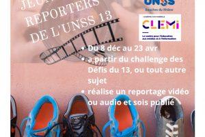 CONCOURS JEUNES REPORTERS DU 13