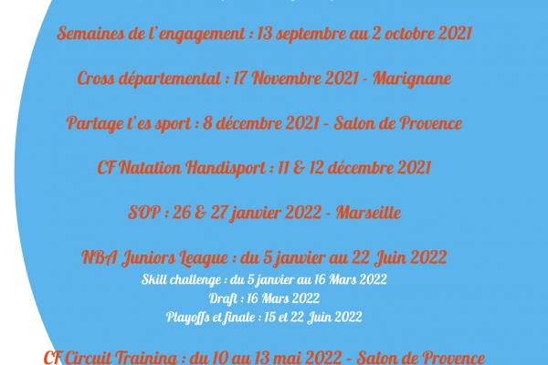 LES DATES À RETENIR POUR 2021-2022